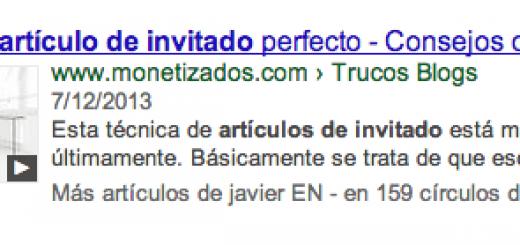 resultado de articulo de invitado en google