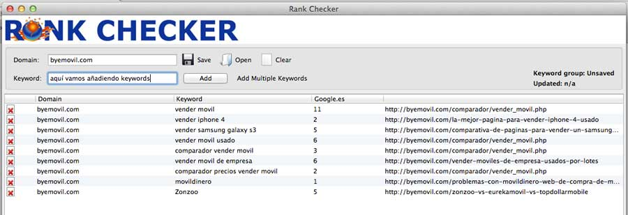 rank checker posicion de keywords