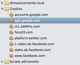 cookies en Safari